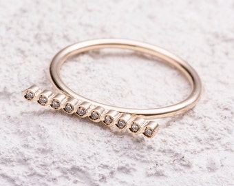 14k gold ring, Solid gold ring, 14k solid gold ring, Anniversary ring, Engagement ring, Anniversary gift, Friendship ring, Stackable ring