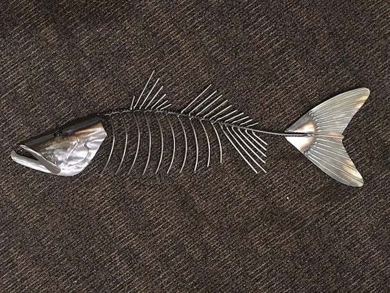 Snook  Fish Metal 30in Wall sculpture Tropical Beach Coastal Art