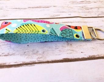 Fishy key fob / keychain / wristlet