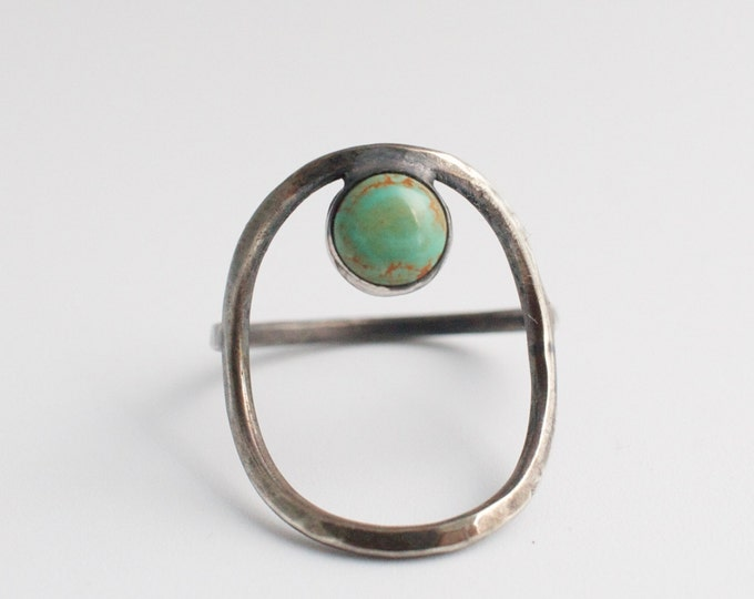 turquoise open circle ring