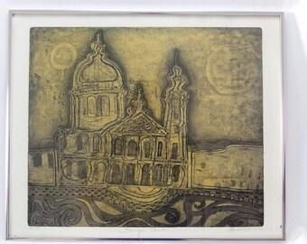 Baroque Church Signed Limited Edition Silkscreen Print