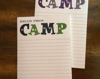 Camp Stationery Notepads