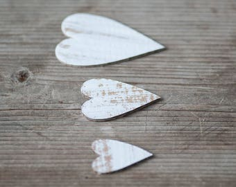 Rustic Heart Decor 16pics Paper Hearts Decorative Hearts Rustic Decor Eco Friendly Wedding Decorations Craft Hearts Cardboard Hearts