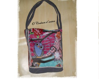 bag OWL pattern, mother's day gift idea, birthday,