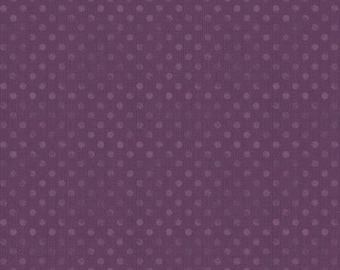 """108"""" Wilmington Prints Plum Dotsy Wide Backing"""