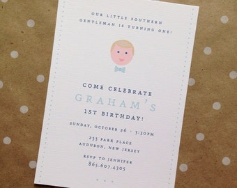 Birthday Invitation with Southern Gentleman/Southern Belle