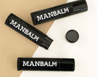 MAN BALM Lip Balm for Mens Lip Balm for Guys - Groomsmen Gift for Men Gift - Dad Gift - Boyfriend Gift (EB3236GM) set of 6 Lip Balms