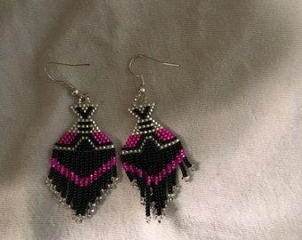 Handmade Native American Tribal Teepee Earrings