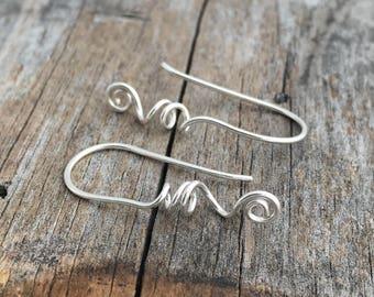 Sterling Silver Ear Wire Handmade Sterling Ear Wire Artisan Ear Wire Jewelry Supply Sterling Silver Jewelry Findings