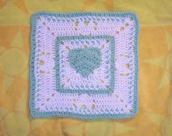 Fox's 12 x 12 and 7 x 7 Heart of a Hippie version - 2 in 1 pattern square