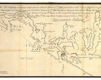Map of Vancouver Island and Clayoquot Sound; 1791; Antique Map