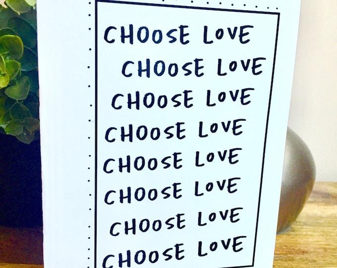 Choose Love Card, love card, unique love card, handmade love card, 365 days, 1st wedding anniversary,