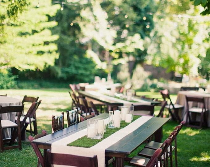 Featured listing image: Wonderland Grass Table Runner / Desk Runner - Easter / Mother's Day / Wedding