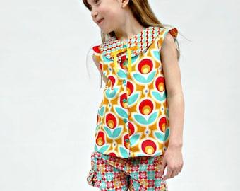 Girl's Shorts Set, Girl's Summer Clothes, Girl Shorts, Toddler shorts, Kids Summer Short Sets, Play Clothes, Toddler Beachwear, size 2 - 10