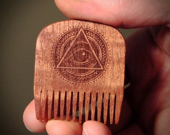Big Red Beard Comb No.5 - All Seeing Eye - Special Edition