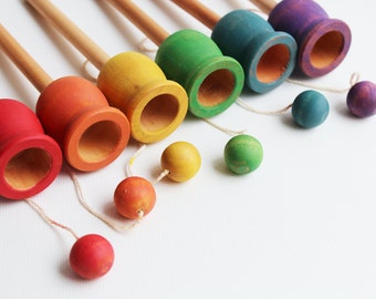 Classic Ball and Cup - A Montessori and Waldorf inspired Dexterity Game
