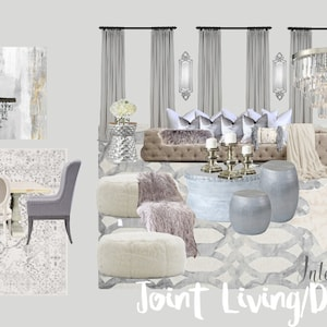 Online Interior Design Joint Living Room And Dining Decor