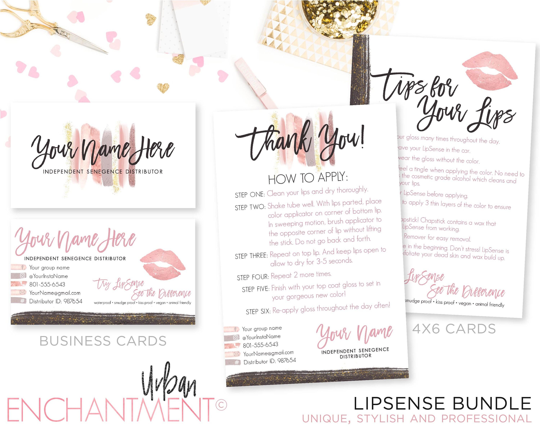 LipSense Business Cards. LipSense Business Card Bundle.
