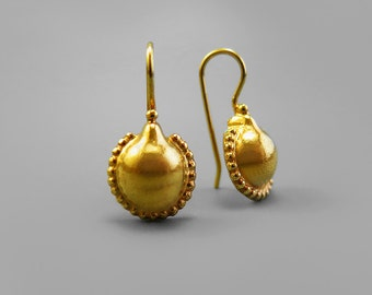 Gold Earring, Gold Drop Earring, Gold Plated Jewellery, Gold Dangle Earring, Gift for Women, Dainty Earring, Teardrop Earring, Small Earring