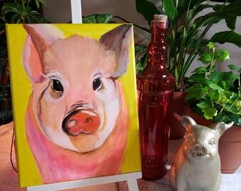 Acrylic pig