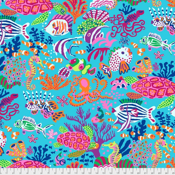 SCUBA Jolly Blue Brandon Mably PWBM064.JOLL Sold in 1/2 yard increments item