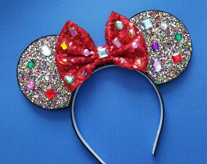Snow White Mine Train Mouse Ears Headband | Mouse Ears | Snow White| Headband Minnie Ears | Mouse Ears | Seven Dwarfs Ears