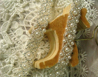 beaded lace trim, bridal sash, Bridal Belt, beaded jewelry Trim, Pearl Beading trim, beading trim