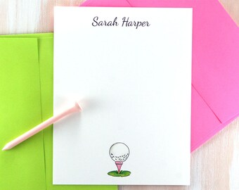 Ladies Golf Gifts, Personalized Golf Gifts for Women, Golf Gifts for Woman, Golf Note Cards Personalized
