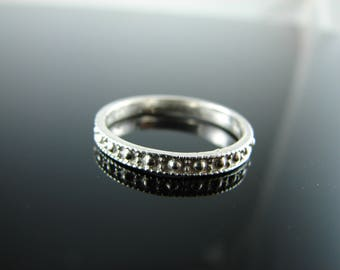 5942 Ring Band Setting Sterling Silver Size 8.75