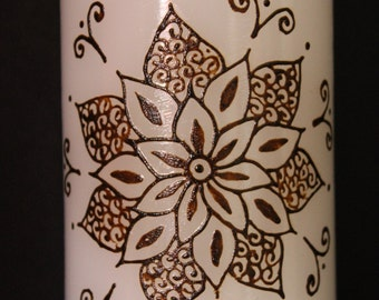 Henna candle