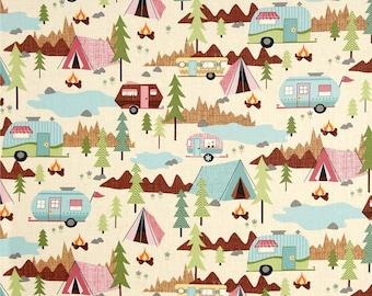 Timeless Treasures Camping Allover Cream
