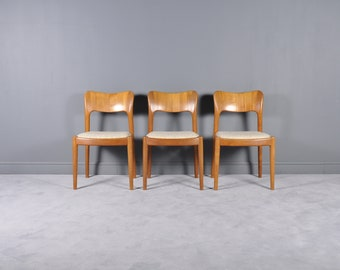 Danish Teak Chairs by Niels Koefoed for Hornslet Møbelfabrik, 1960s,set of 3