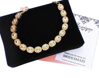 Gold wedding accessories, wedding bracelet, gold bracelet, bridesmaid bracelet, cubic zirconia, halo bracelet, bridsmaid gift bracelet