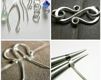 Tutorial - Basic Wire Jewelry Findings - Instant Download