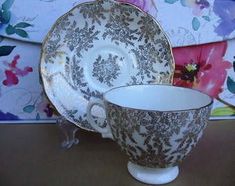 Royal Vale - White and Gold Tea Cup
