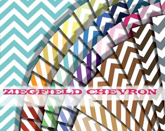 Chevron digital paper in 49 colors, wide chevron background paper for small commercial personal use : b0314 v301 49c