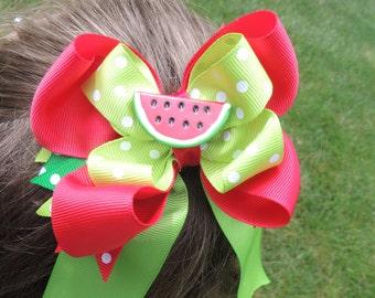 The Hair Bow Factory Summer Fun Watermelon Hair Bow
