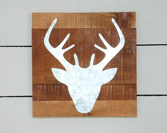 Deer Head Silhouette Sign