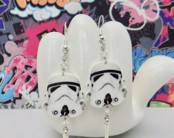 Star Wars Stormtrooper Dangle Earrings
