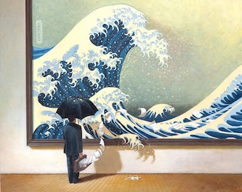Japanese wave, The Great Wave, Wall art, Museum art