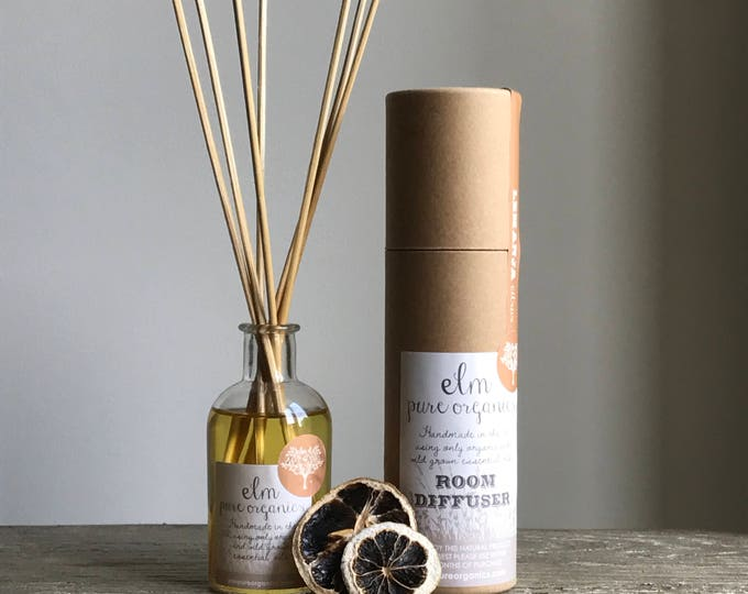 Lemanja . Organic Reed Diffuser. Only Organic Essential Oils, Lemongrass, Black Pepper, Sweet Basil. Eco friendly. 100 ml