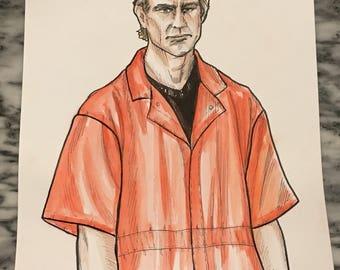 Jeffrey Dahmer original artwork