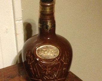 """Royal Salute Scotch Whiskey Decanter 9"""" Tall"""