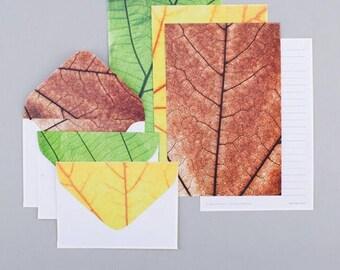 Leaves Letter Writing Set Writing Paper Envelope Set