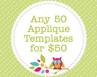 Any 50 Applique Templates, You Choose Designs, Multiple Purchase Discount. PDF Patterns by Angel Lea Designs