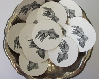 Goldfish Tags Round Gift Tags Set of 10