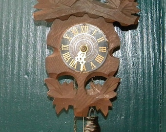 German Grieshaber Black Forest Novelty  Clock