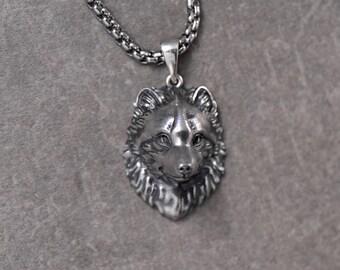 Arctic fox necklace Arctic fox jewelry Fox pendant Animal jewelry Arctic fox  ring Silver fox White fox Polar fox