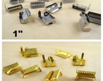 "1 Dozen Suspender Strap Adjusters Ratchet Adjuster 1"" or 2"" with Bendable Forks Choose From Gold and Silver"