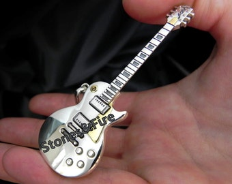 GIBSON LES PAUL Standard Guitar Sterling Silver Pendant _Custom-made jewelry _Unique Guitar-Pendant Gift